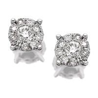 9ct White Gold Starburst Diamond Earrings - 1/3ct per pair - D9416