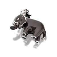 Tingle SCH178 Silver Enamel Elephant Karab Clasp Charm  F8041