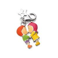 Tingle SCH274 Silver Enamel Kissing Karab Clasp Charm  F8055