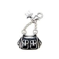 Tingle SCH77 Silver Enamel Handbag Karab Clasp Charm  F8291
