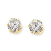 Click to view product details and reviews for 9ct Gold Cubic Zirconia Solitaire Stud Earrings 4mm G2750.