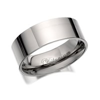 Titanium Polished Finish Band Ring  8mm  J1025U
