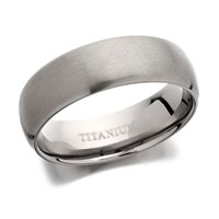Titanium Matt Finish Band Ring  6mm  J1111T