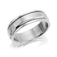 Titanium Revolving Band Ring  J1114V