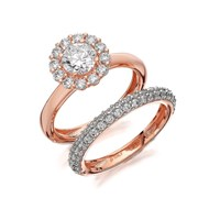 Bronzallure Cubic Zirconia Double Ring Set - J7919-O