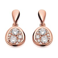 Bronzallure Cubic Zirconia Drop Earrings - J7925