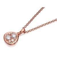 Bronzallure Cubic Zirconia Pendant And Chain - J7926