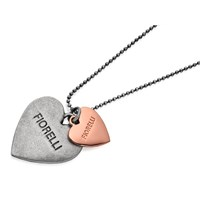 Fiorelli N3799 Double Heart Pendant And Ball Chain  J8224