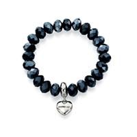 Fiorelli B4190 Blue Crystal And Heart Charm Expanding Bracelet  J8268