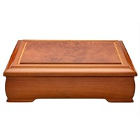 Image of Burwood Finish Wooden Musical Jewellery Box - P5626