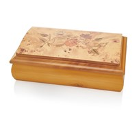 Image of Champagne Rose Musical Jewellery Box - P5653