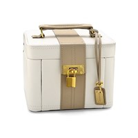 Two Tone Leather Jewellery Box  P5808