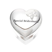 Image of Amore Silver Plated Special Bridesmaid Trinket Box - P6590