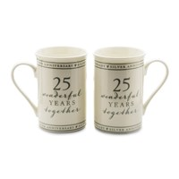 Amore 25 Wonderful Years Anniversary Mug Set - P71121