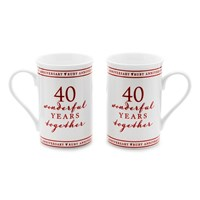 Amore 40 Wonderful Years Anniversary Mug Set - P71122