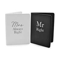 Amore Mr Right And Mrs Always Right Passport Holders - P71126