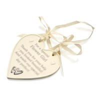 Image of Amore For A Special Flower Girl Porcelain Heart - P71136