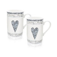 25th Silver Anniversary Mug Set - P7142