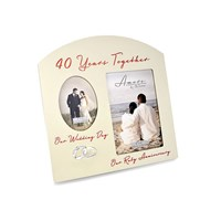 Amore 40th Anniversary Photo Frame - P7146