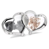Image of Celebrations Silver Plated Crystal Entwined Hearts Photo Frame - P8870