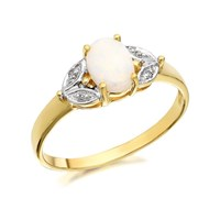 9ct Gold Opal And Diamond Ring - R0930-P