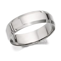 Palladium 500 Bevelled Edge Wedding Ring - 6mm - R1209-U