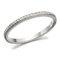 9ct White Gold Diamond Cut Wedding Ring - 2mm - R2301-J