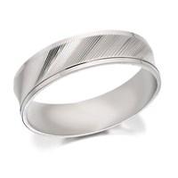 9ct White Gold Satin Finish Wedding Ring - 6mm - R2404-S