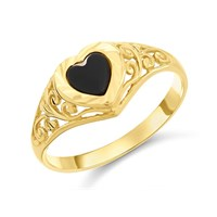 9ct Gold Onyx Signet Ring  R2944L
