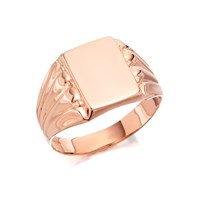 9ct Rose Gold Gentleman's Signet Ring - R3340-X