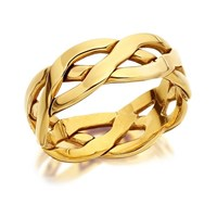 9ct Gold Weave Wedding Ring - 8mm - R4223-X