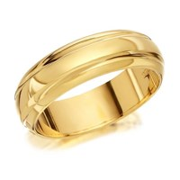 9ct Gold Banded Wedding Ring - 5mm - R4260-K