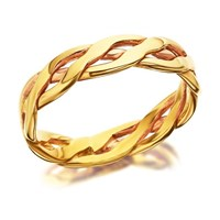 9ct Gold Weave Wedding Ring - 4mm - R4273-Q
