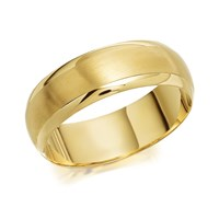 9ct Gold Satin And Polished Wedding Ring - 7mm - R4330-U