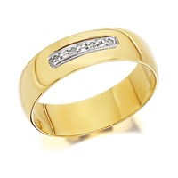 9ct Gold Diamond Set Wedding Ring - 6mm - R4427-R