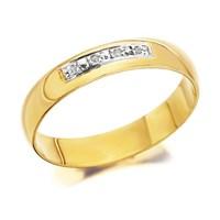 9ct Gold Diamond Set Wedding Ring - 4mm - R4477-J