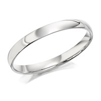 Platinum Court Wedding Ring - 2.5mm - R4611-P
