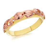 Clogau 9ct Yellow And Rose Gold Tree Of Life Ring - R4814-P