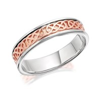 Clogau Silver And 9ct Rose Gold Annwyl Ring - R4828-R