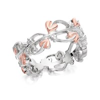 Clogau Silver And 9ct Rose Gold Tree Of Life Ring - R4842-K