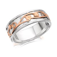 Clogau 9ct Rose Gold And Silver Tree Of Life Ring - 8mm - R4857-J