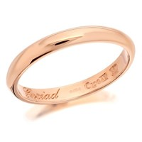 Clogau 9ct Rose Gold Cariad Windsor Wedding Ring - 3mm - R4893-S