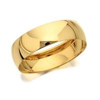 9ct Gold D Shaped Wedding Ring - 6mm - R5206-U