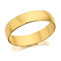 9ct Gold D Shaped Wedding Ring - 5mm - R5211-S