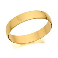 9ct Gold D Shaped Wedding Ring - 4mm - R5214-L