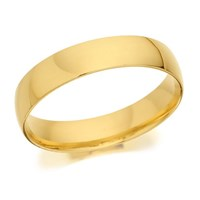 9ct Gold Heavyweight Court Wedding Ring - 5mm - R5271-T