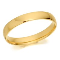 9ct Gold Heavyweight Court Wedding Ring - 3mm - R5273-M