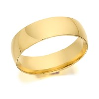 9ct Gold Heavyweight Court Wedding Ring - 6mm - R5276-T