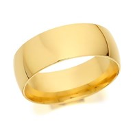 9ct Gold Heavyweight Court Wedding Ring - 7mm - R5277-U