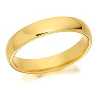 9ct Gold Extra Heavyweight Court Wedding Ring - 4mm - R5284-Q
